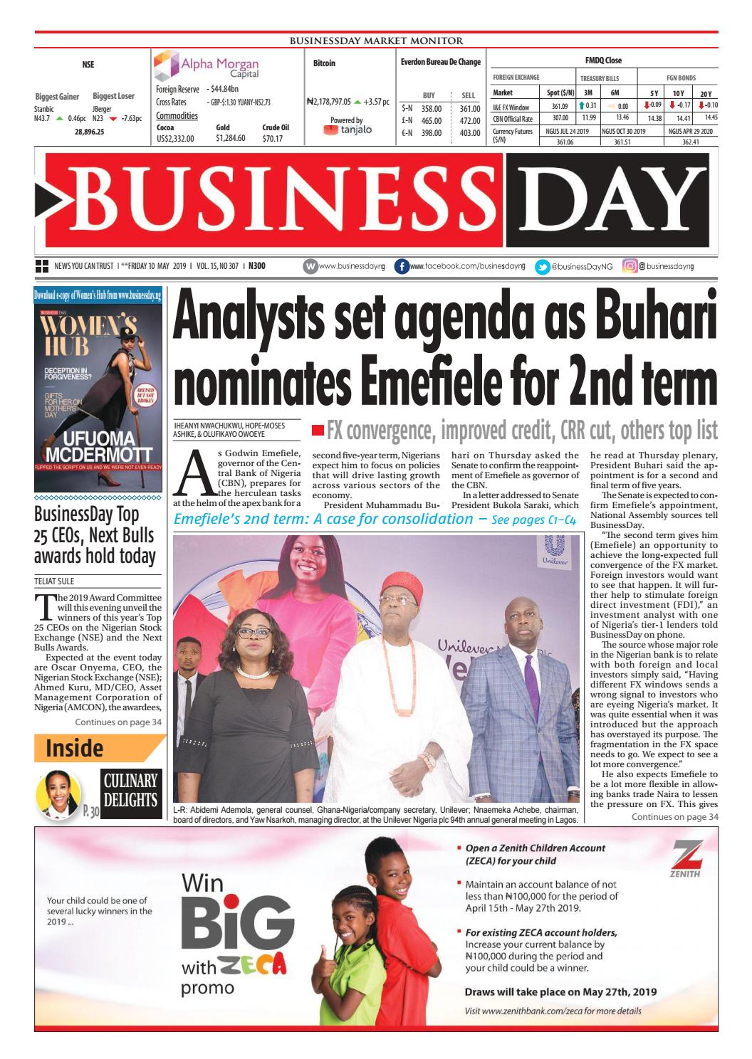 BusinessDay 10 May 2019 by BusinessDay - issuu