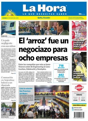 85e25a14ae75 Quito 10 de mayo de 2019 by Diario La Hora Ecuador - issuu