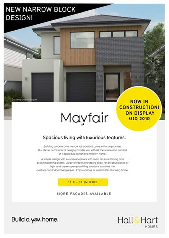 Page 1 of Our new design the Mayfair.