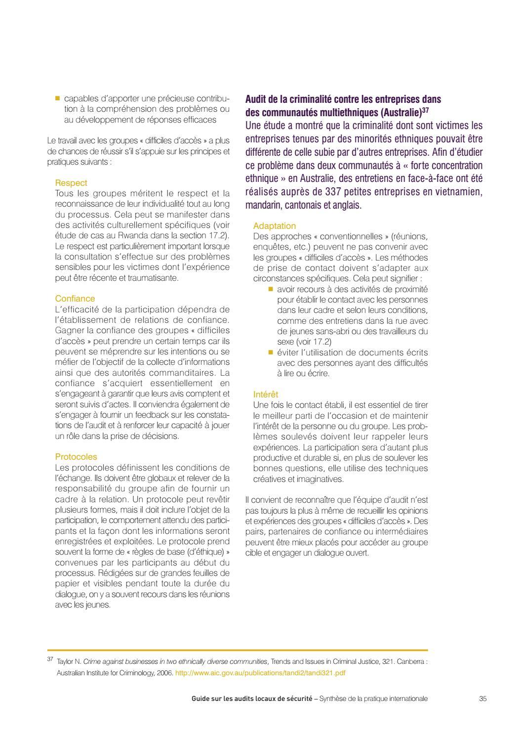 Guide Sur Les Audits Locaux De Securite Synthese De La Pratique Internationale Vebuka Com