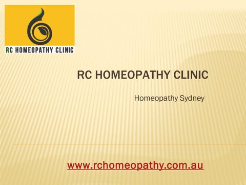 Homeopathic Vaccines by RC Homeopathy - issuu