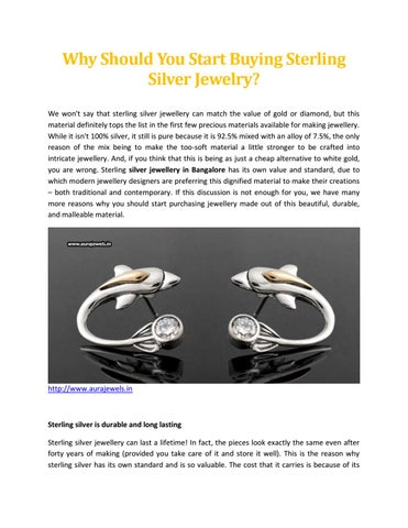 9d708aae4c2f Why Should You Start Buying Sterling Silver Jewelry - Aura Jewels