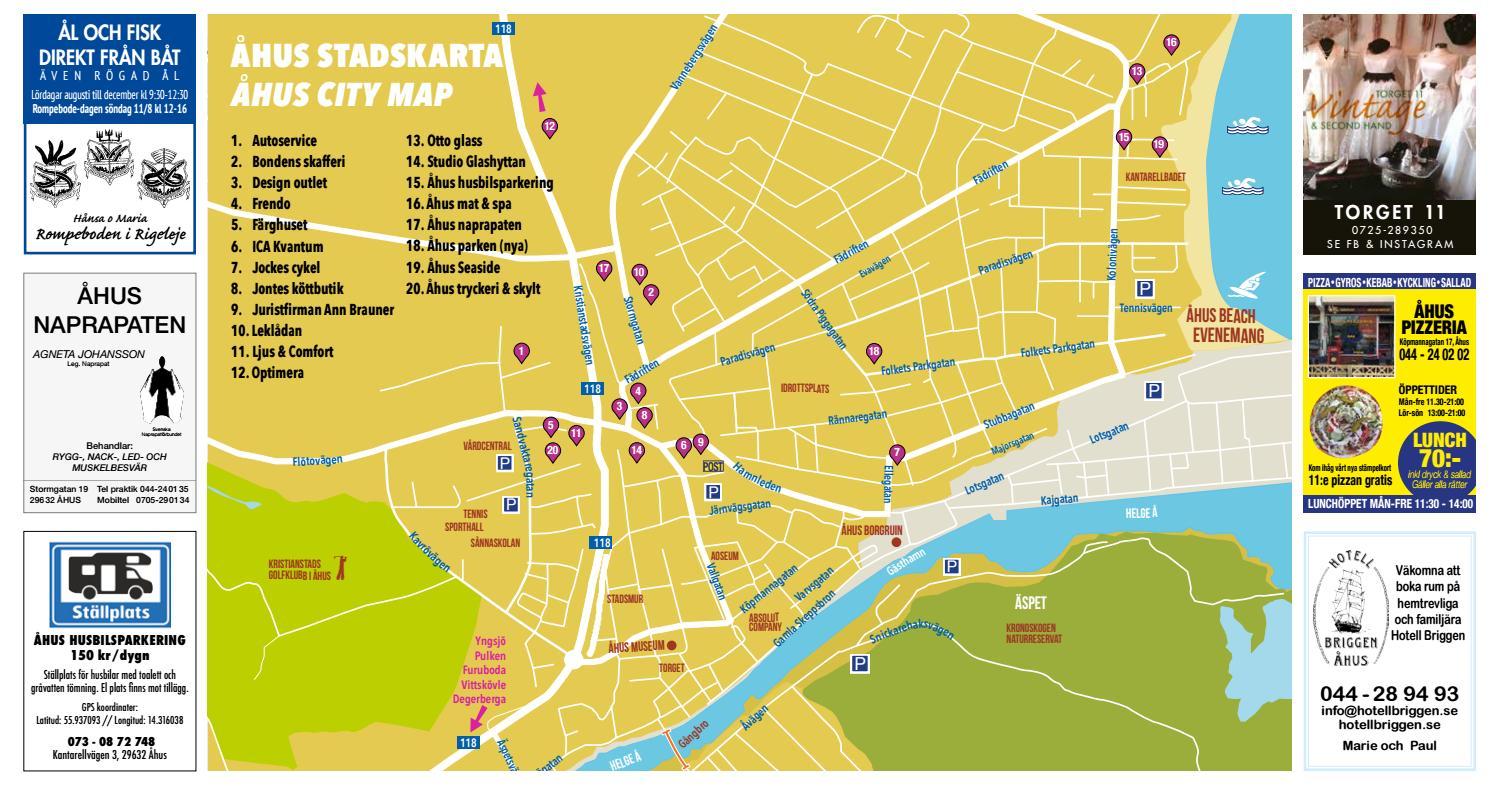 Karta Ahus City Kopmannagatan By Heidi Roslund Issuu