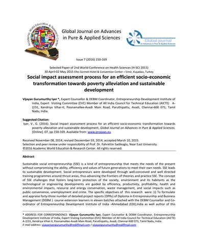 Social Impact Assessment (SIA) Process