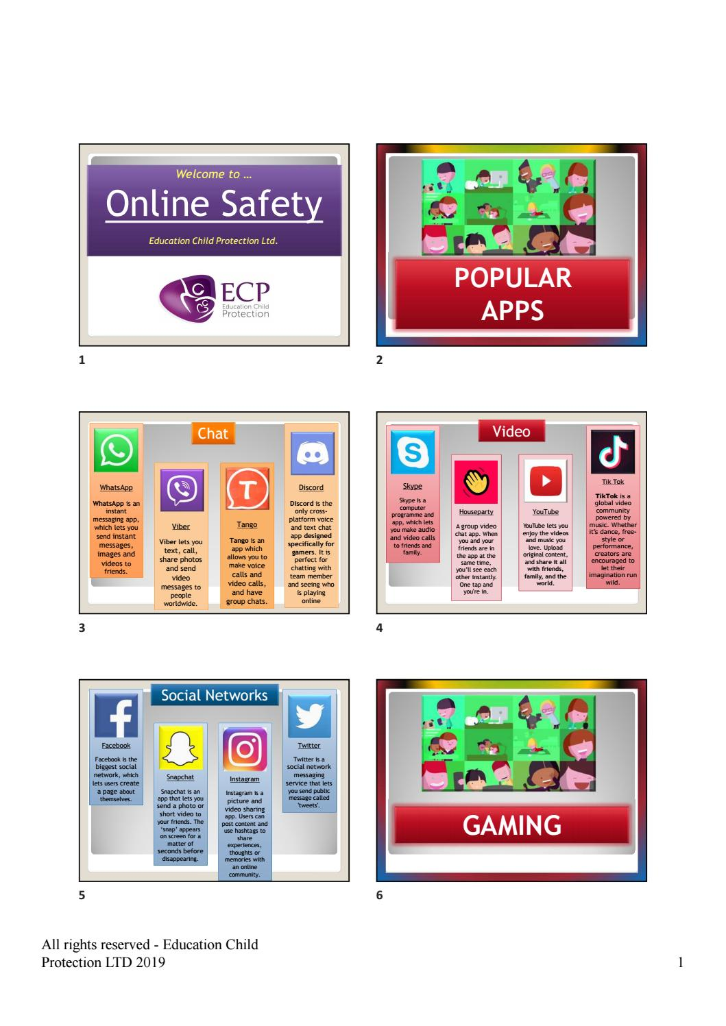 Online Safety presentation to New Year 7 Families - April 2019 by