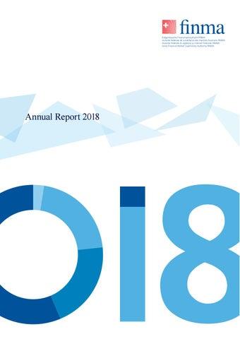 Finma Annual Report 2018 By Eidgenossische Finanzmarktaufsicht