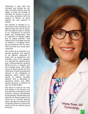 Page 17 of Dr. Melanie Bone | Cannabis Industry Physician & Educator