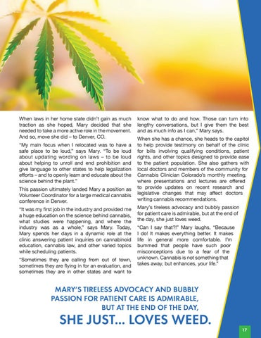 Page 19 of Women in Cannabis | Mary Carniglia