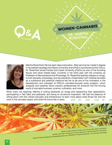Page 32 of Women in Cannabis | Dr. Martha Rosenthal Q&A