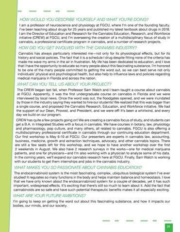 Page 33 of Women in Cannabis | Dr. Martha Rosenthal Q&A