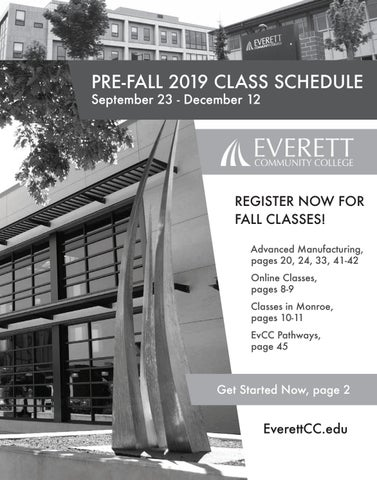 Pre-Fall 2019 class schedule by Everett Community College