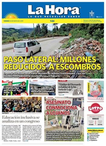 43838d707 Diario La Hora Loja 10 de Mayo 2019 by Diario La Hora Ecuador - issuu