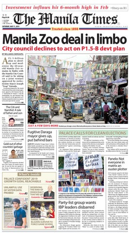THE MANILA TIMES | MAY 11, 2019 by The Manila Times - issuu