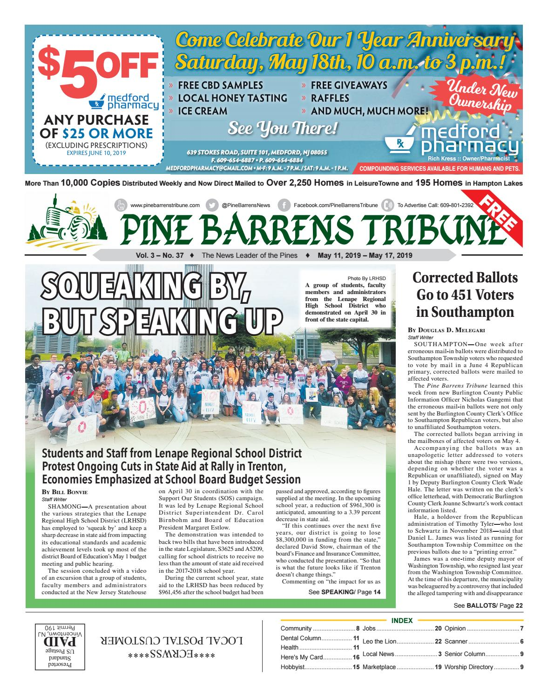 Pine Barrens Tribune May 10- May 17, 2019 by Pine Barrens Tribune