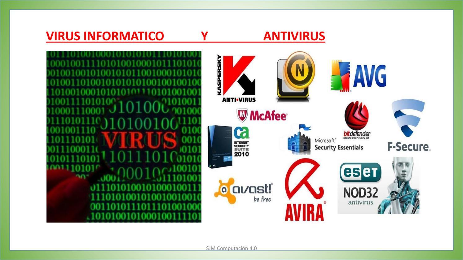 que significa el nombre virus informático