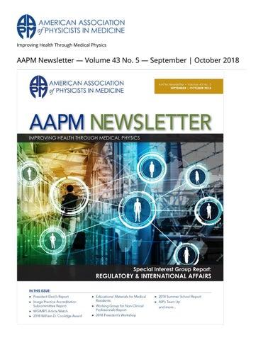 AAPM Newsletter September/October 2018 Vol  43 No  5 by aapmdocs - issuu