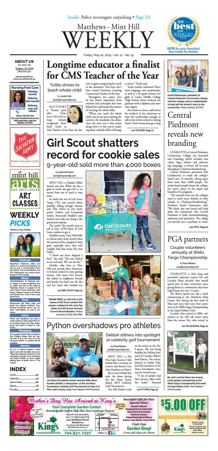 Matthews-Mint Hill Weekly May 10, 2019 by Carolina Weekly
