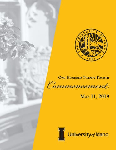 University Of Idaho Graduation 2020.University Of Idaho Commencement Program Spring 2019 By The