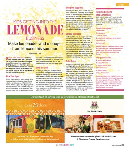 Page 23 of Kids - Get into the Lemonade business.