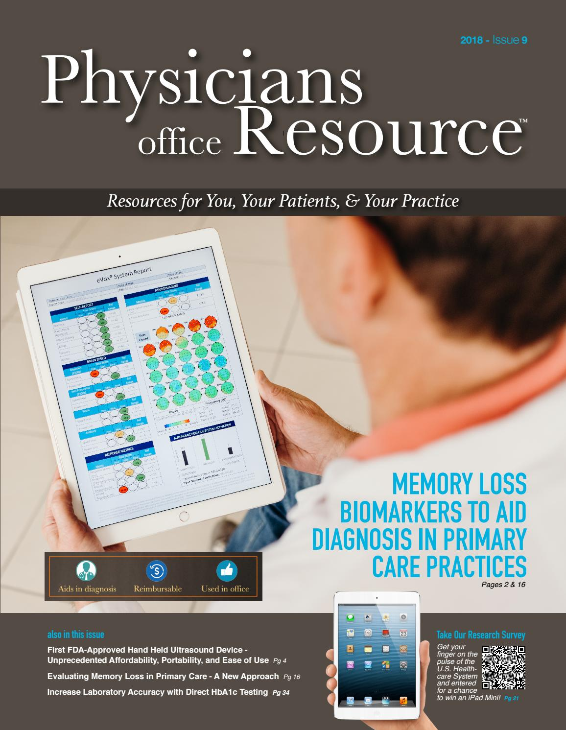 Physicians Office Resource - September 2018 by Physicians