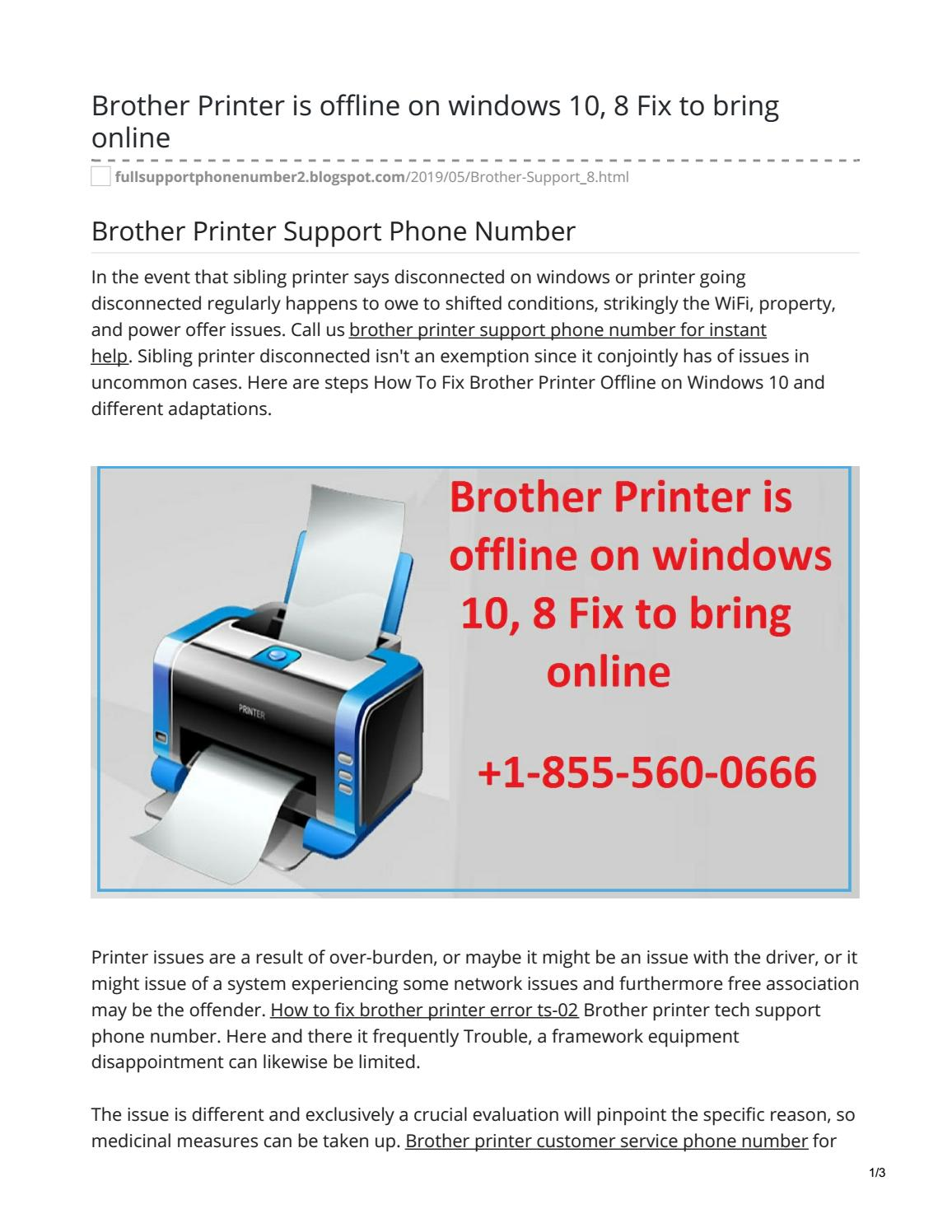 Brother Printer Support +1-855-560-0666 Phone Number To Get