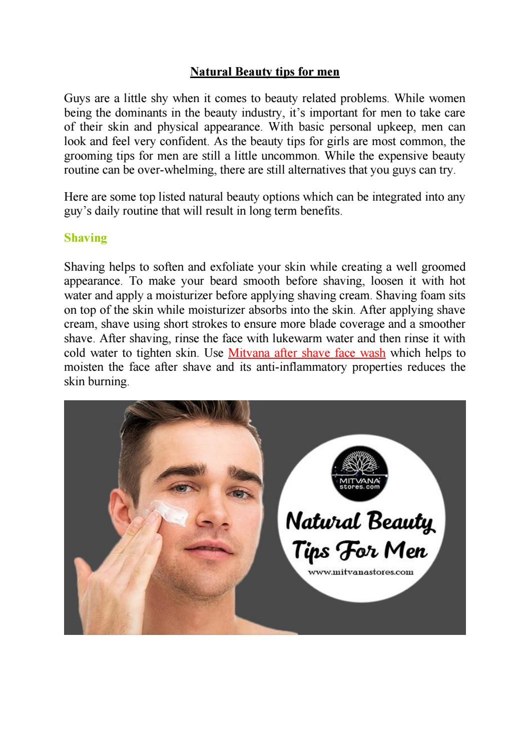 Natural Beauty tips for men by jay.kp9 - issuu
