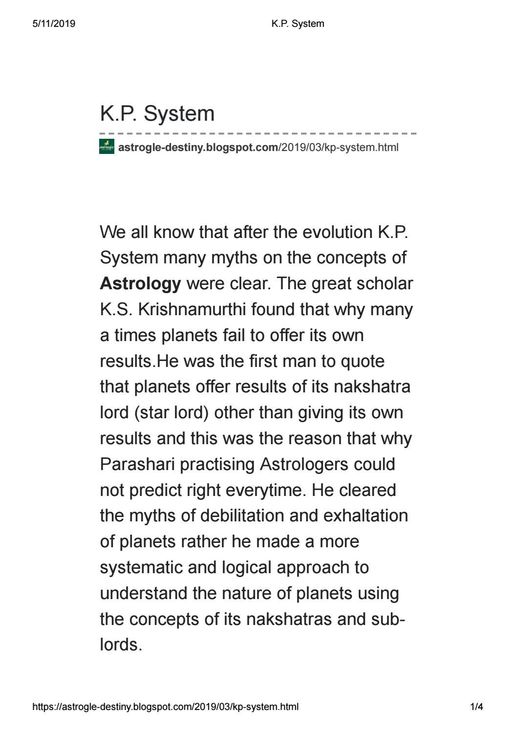 KP Astrology by Astrogle - issuu