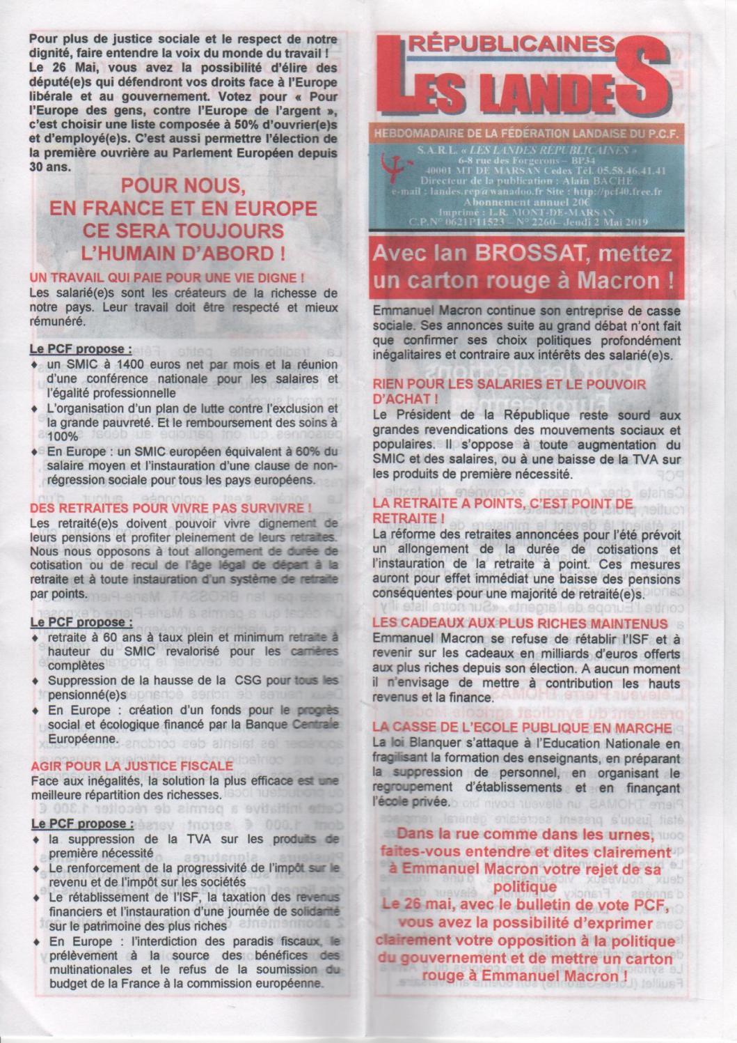 Les Landes Républicaines N 2260 By Lr 2013 Issuu