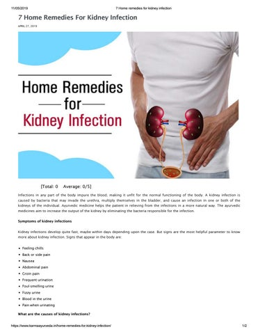 7 Home remedies for kidney infection by Kidney treatment in Ayurveda - issuu
