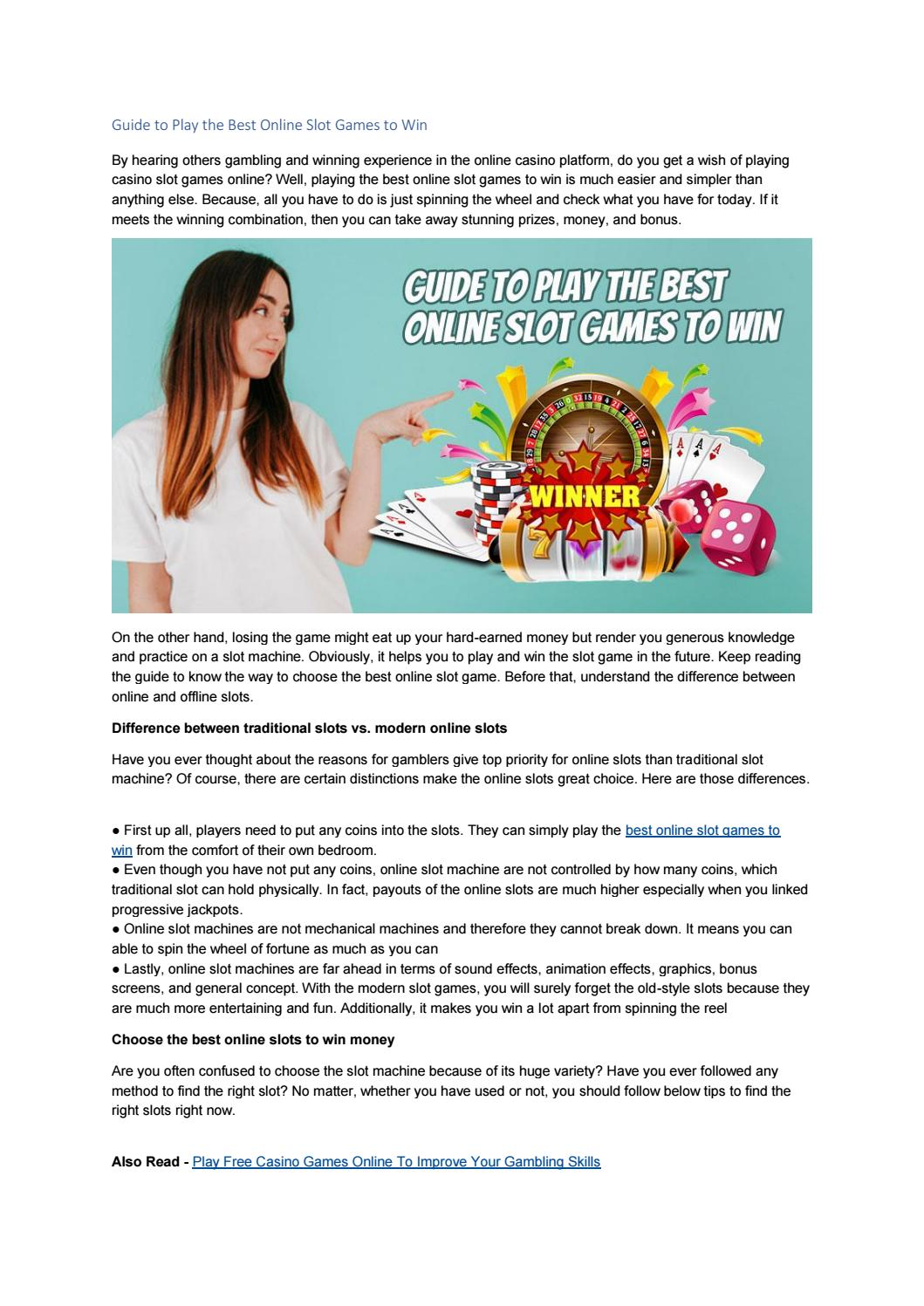 Guide To Play The Best Online Slot Games To Win By Playleon Issuu
