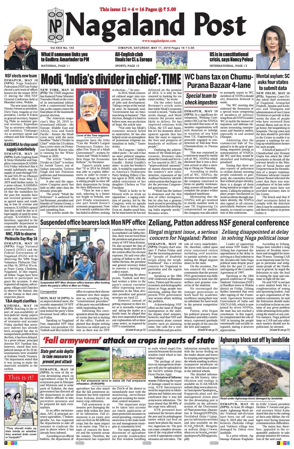 May 11, 2019 by Nagaland Post - issuu
