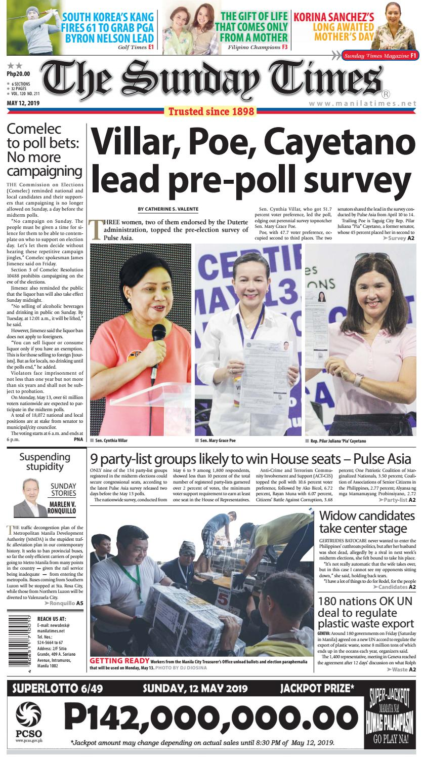 The Manila Times | May 12, 2019 by The Manila Times - issuu