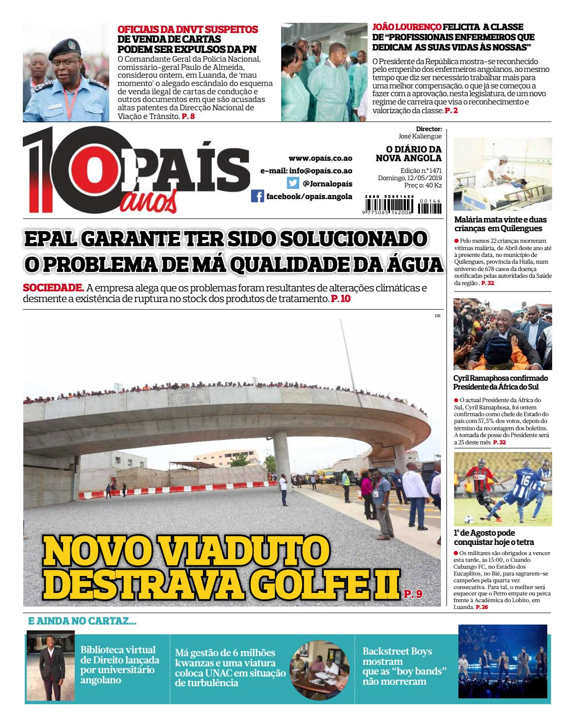 16c37e01171 Jornal OPaís edição nº1471 de 12/05/2019 by OPAÍS - issuu