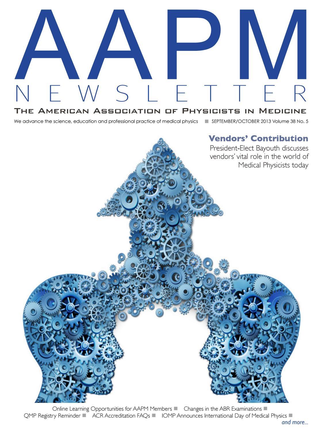 AAPM Newsletter September/October 2013 Vol  38 No  5 by aapmdocs - issuu