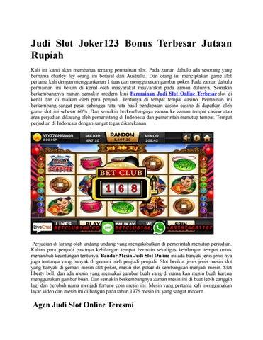 Judi Slot Joker123 Bonus Terbesar Jutaan Rupiah By Tembak Ikan Slot Joker Issuu