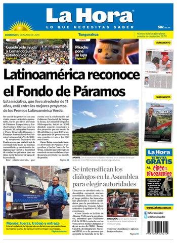 95074613f1 TUNGURAHUA 12 DE MAYO DE 2019 by Diario La Hora Ecuador - issuu