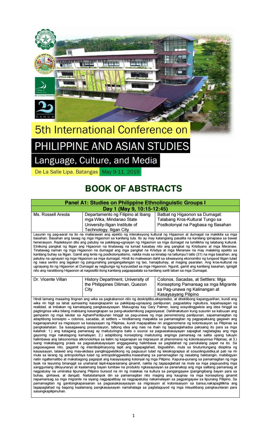 danum book of abstracts by Jean Makisig - issuu