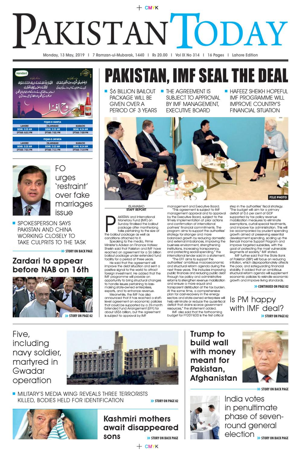E-Paper PDF 13 May (LHR) by Pakistan Today - issuu