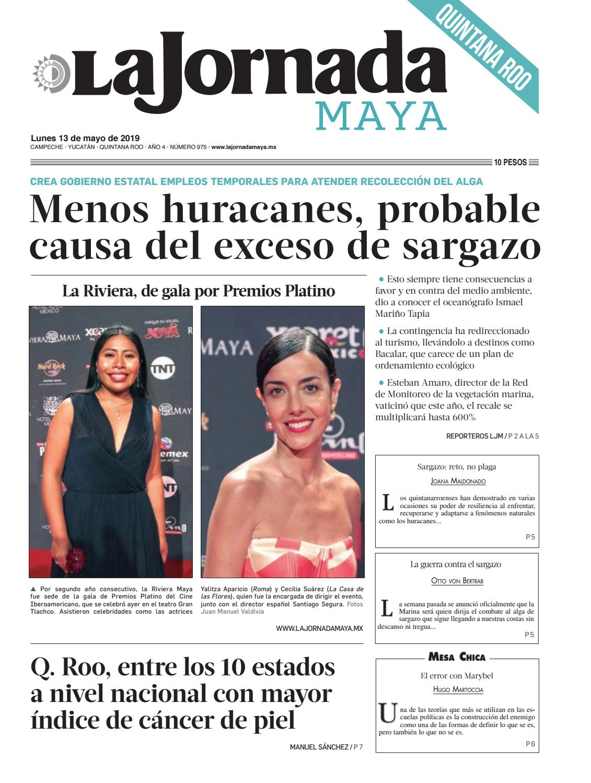 016bc81de La Jornada Maya · lunes 13 de mayo de 2019 by La Jornada Maya - issuu