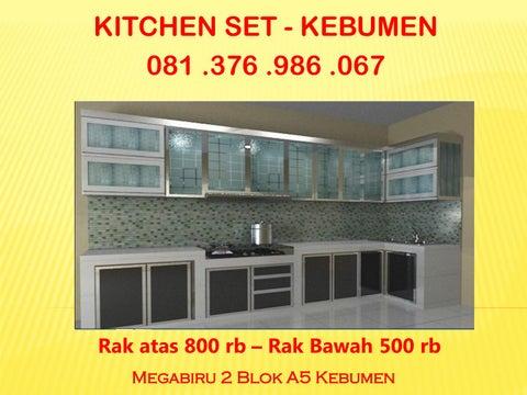 Kitchen Set Minimalis Kebumen Jual Kitchen Set Aluminium Kebumen
