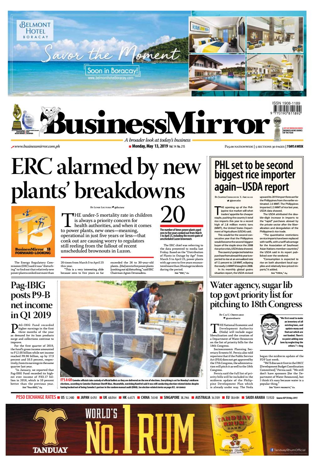 BusinessMirror May 13, 2019 by BusinessMirror - issuu