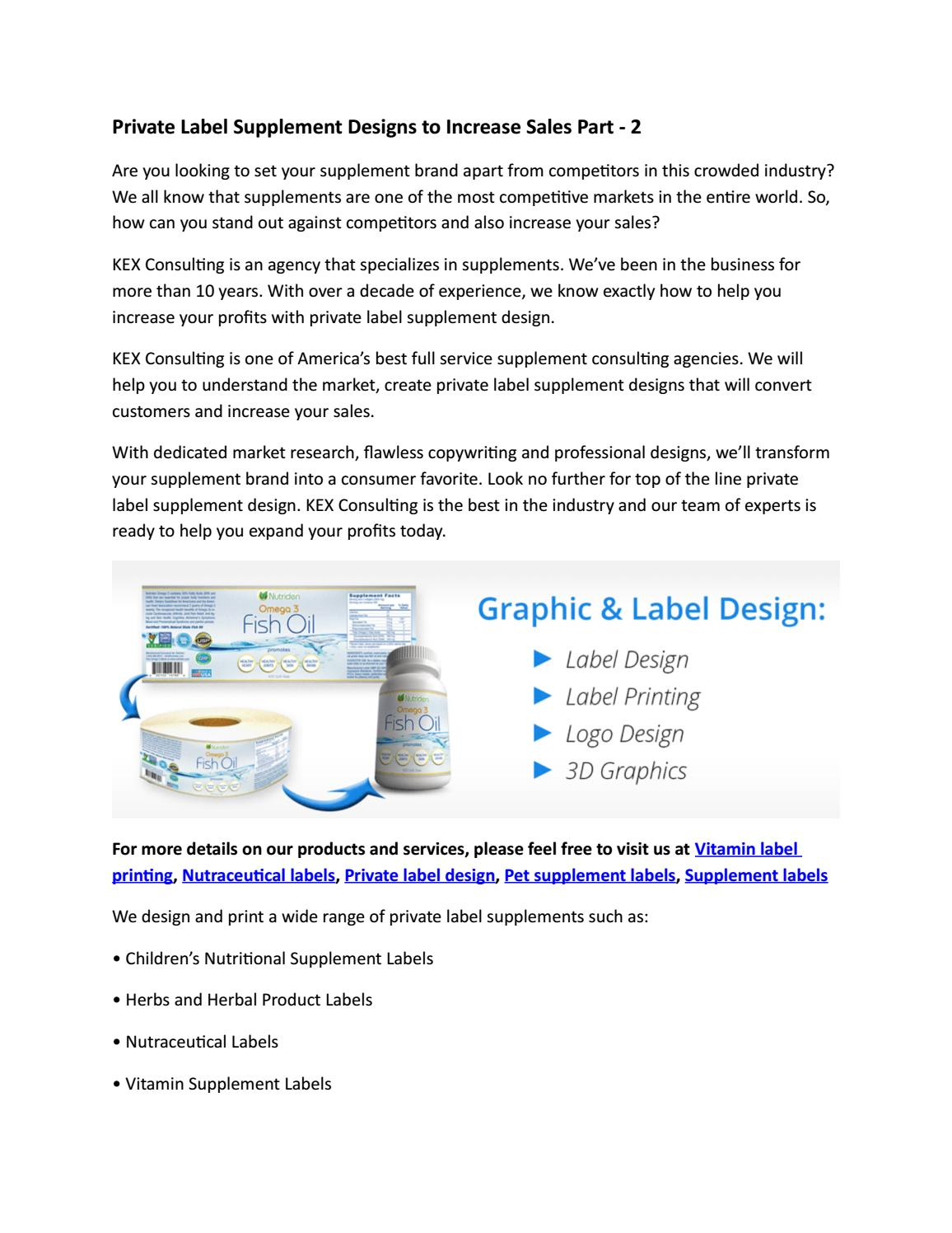 Private Label Supplement Designs to Increase Sales Part - 2 by