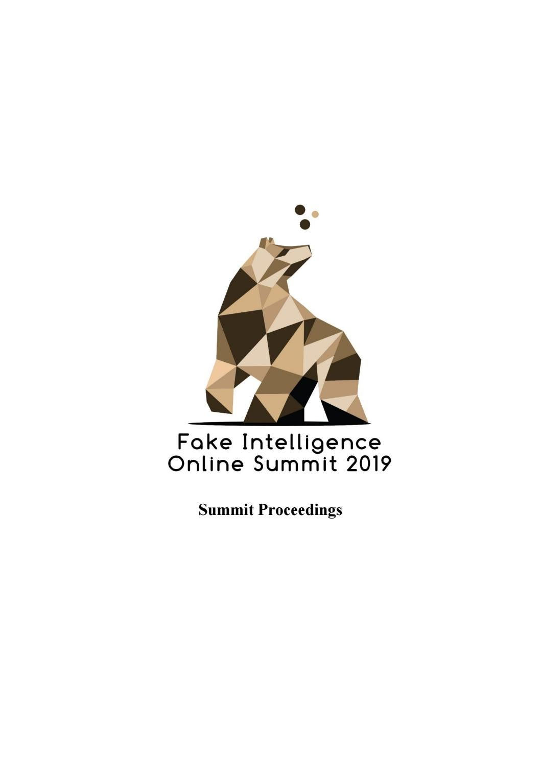 Proceedings of Fake Intelligence Online Summit 2019 by SAMK