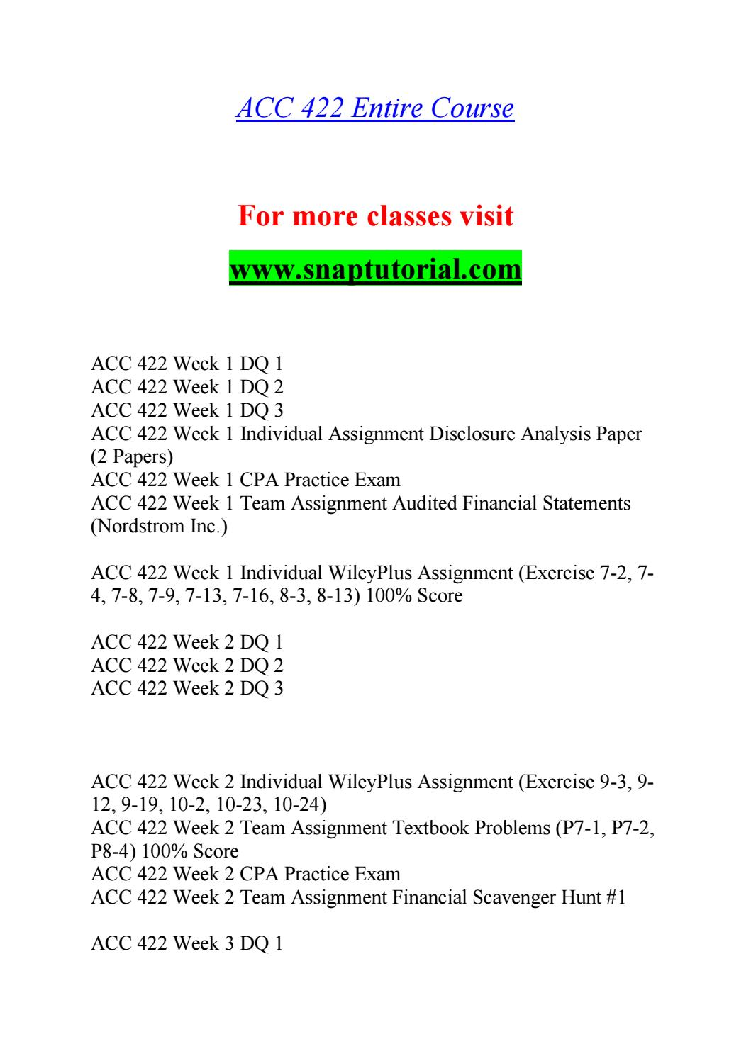 form i-9 3/8/13  ACC 10 Exceptional Education / snaptutorial.com by ...