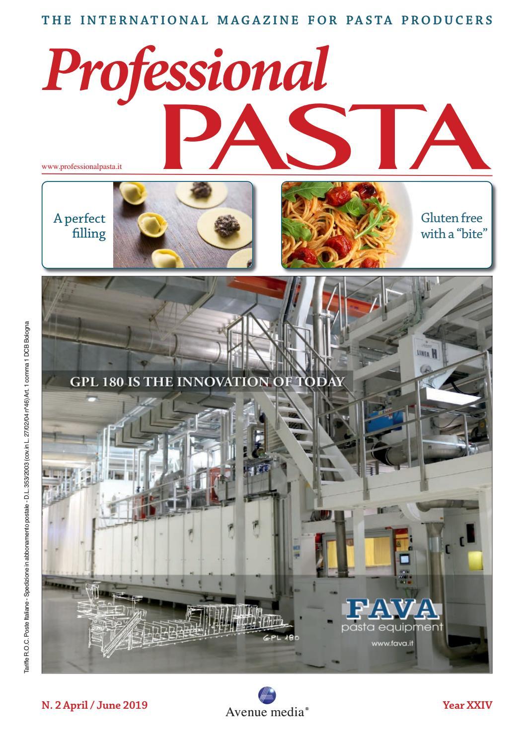 Professional Pasta N. 2 April/June 2019 by Avenue media - issuu