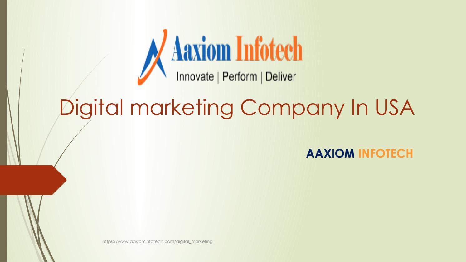 Aaxiom Infotech a digital marketing company in usa by Aaxiom