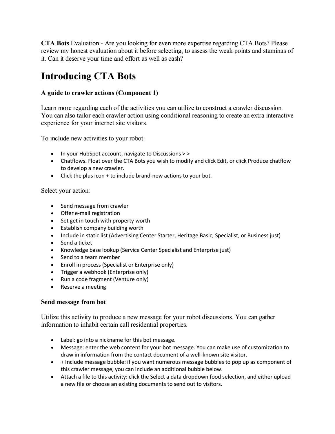 CTA Bots Review And Free Bonus by richardlarue - issuu