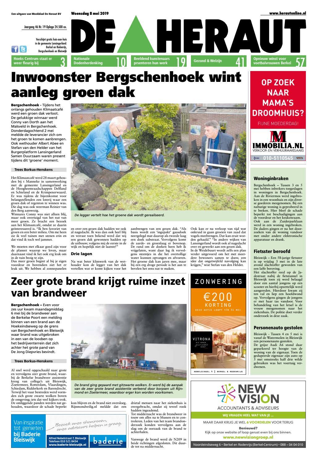 8bbcd135ac3 De Heraut week 19 2019 by Nieuwsblad De Heraut - issuu