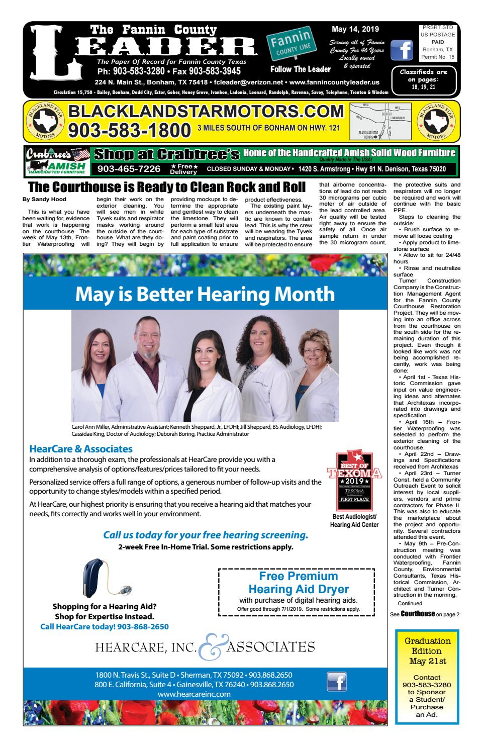5-14-19 Leader E-Edition by The Fannin County Leader - issuu