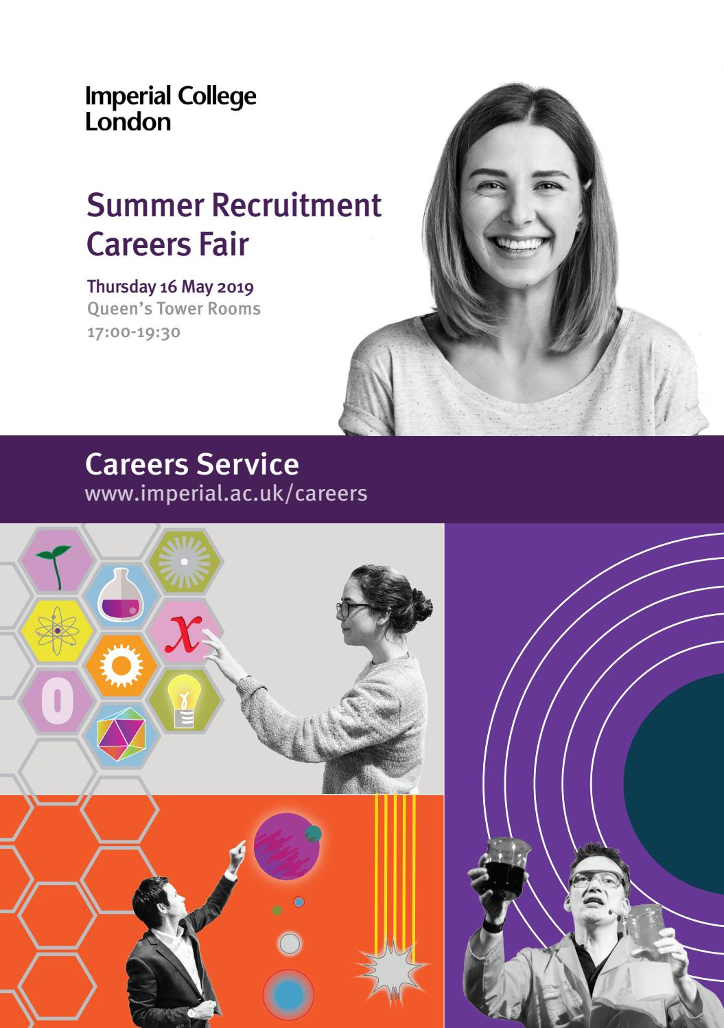 Imperial Summer Recruitment Fair 2019 by Imperial College